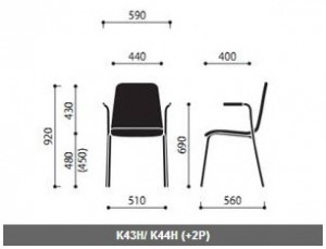 Krzesło konferencyjne sklejkowe Resso wymiary (4)