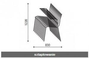 Krzesło konferencyjne sklejkowe Resso wymiary (5)