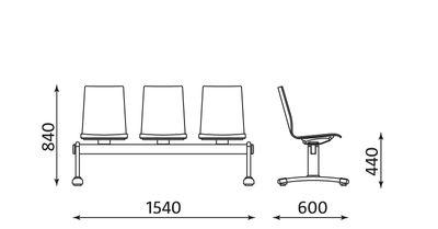 Wymiary ławek Latte