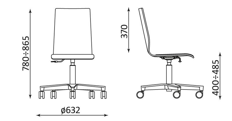 Wymiary krzesła Latte