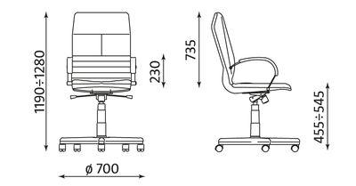 METEOR steel alu wymiary fotela
