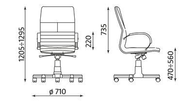 METEOR wymiary fotela