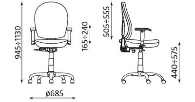 Wymiary krzesła Mind