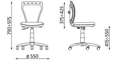 Wymiary krzesła Ministyle