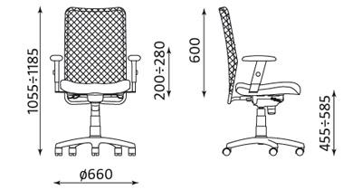 Wymiary krzesła Montana
