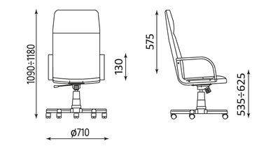 Wymiary fotela Nadir