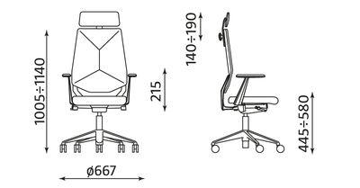 Wymiary fotela Next U