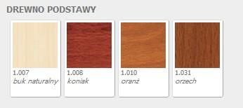 Nowy Styl wybarwienia drewna dla fotele Premier