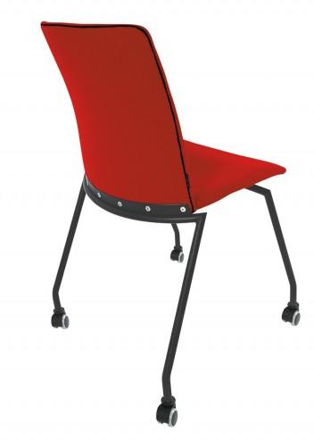 Krzesło konferencyjne na kółkach OLO 11H czarny kolka