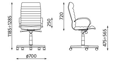 ORION Wymiary fotela