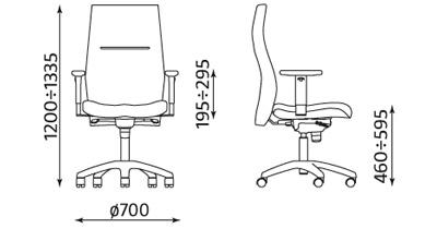 Wymiary krzesła Orlando