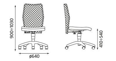Wymiary krzesła Picolo