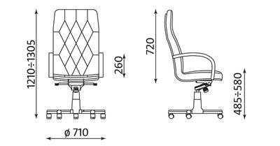 PREMIER wymiary fotela