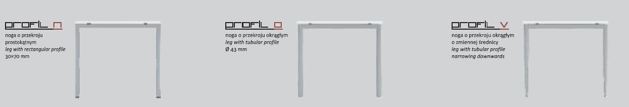 Profil Dostępne bryły w systemie