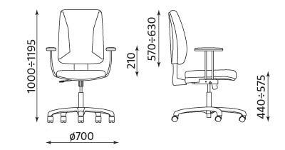 Wymiary krzesła Quatro