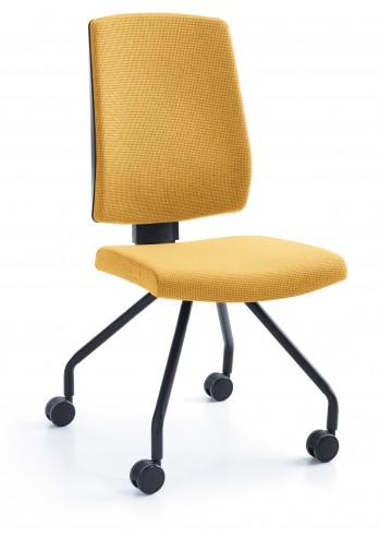 Krzesło konferencyjne Raya 21H czarny kółka