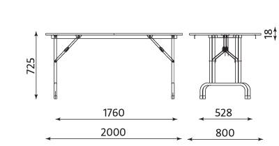 Wymiary stołu RICO