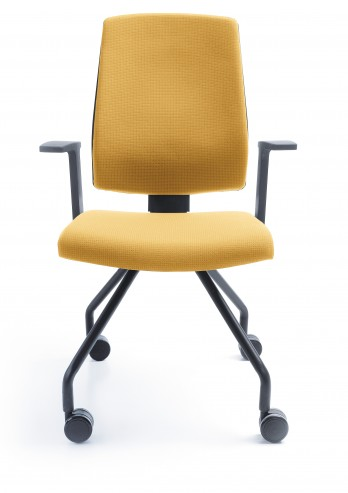Krzesło konferencyjne Raya 21H czarny P46PU kółka przód