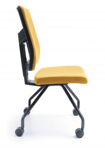 Krzesło konferencyjne Raya 21H czarny kółka bok
