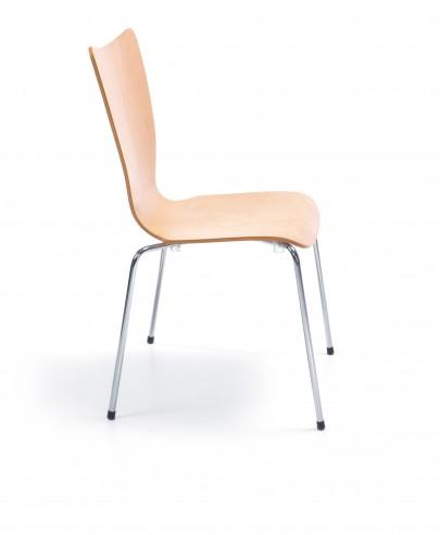 Krzesło sklejkowe Resso K11 H chrome_bok
