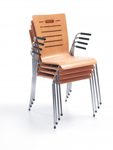Krzesło Resso K14 H chrome 2p stack