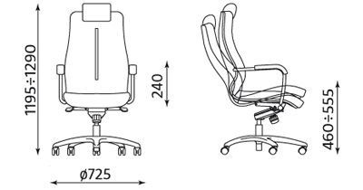 Wymiary fotela Sonata