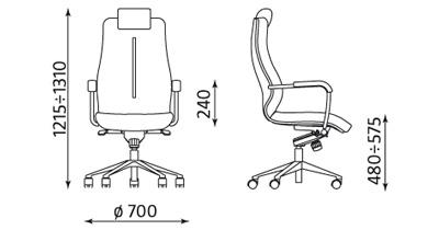 SONATA Wymiary fotela