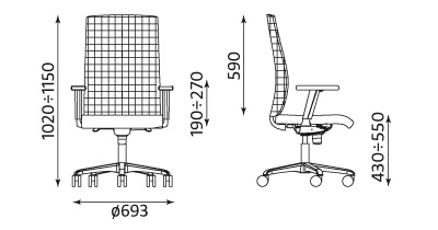 Wymiary krzesła Sit Net