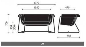 System siedzisk Hover wymiary (2)