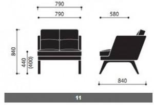 System sof i foteli October wymiary (3)