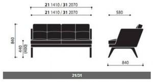 System sof i foteli October wymiary (4)