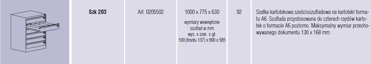 Szafy metalowe kartotekowe SZK Malow - 10