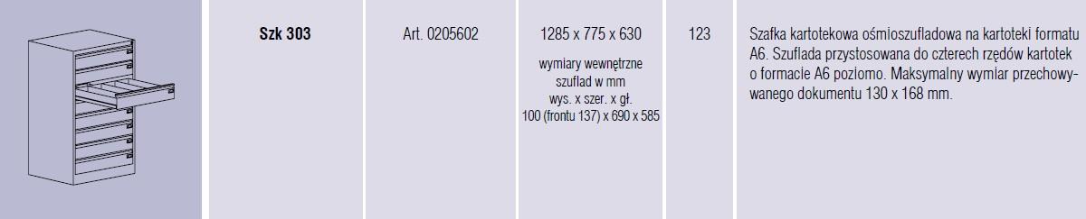 Szafy metalowe kartotekowe SZK Malow - 11