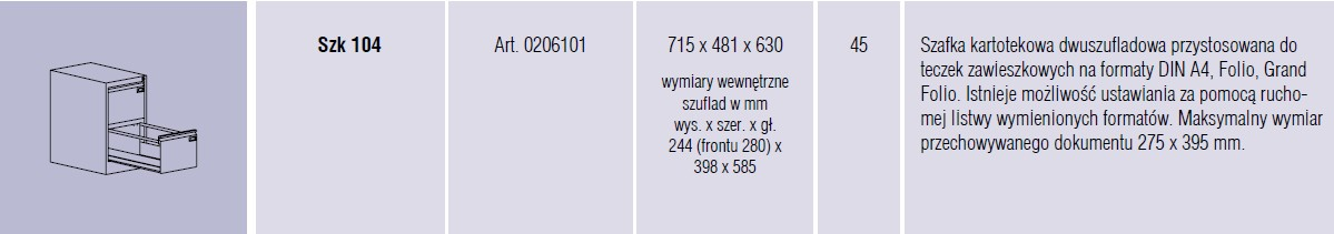 Szafy metalowe kartotekowe SZK Malow - 12