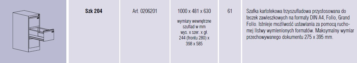 Szafy metalowe kartotekowe SZK Malow - 13