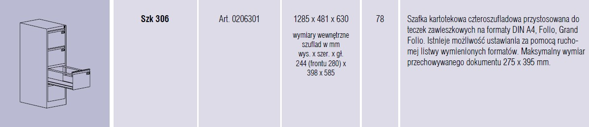 Szafy metalowe kartotekowe SZK Malow - 14