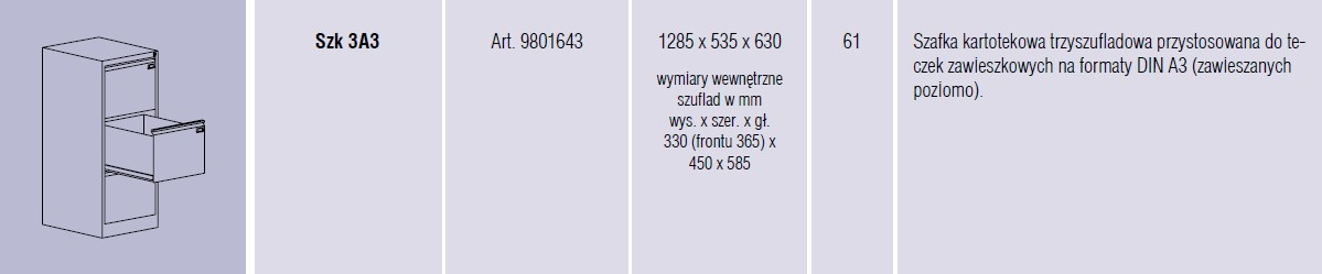 Szafy metalowe kartotekowe SZK Malow - 15