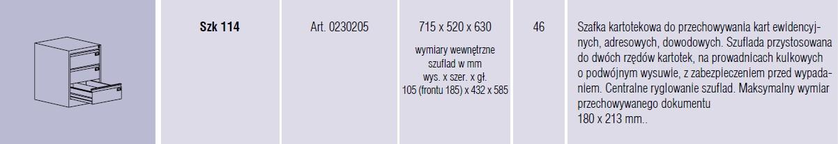 Szafy metalowe kartotekowe SZK Malow - 16