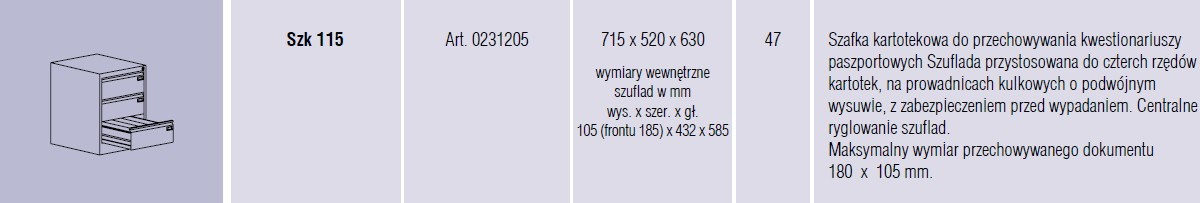 Szafy metalowe kartotekowe SZK Malow -   17