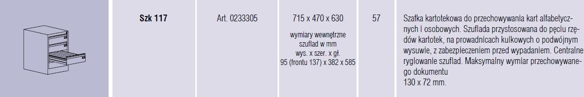 Szafy metalowe kartotekowe SZK Malow - 18