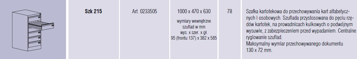 Szafy metalowe kartotekowe SZK Malow - 19