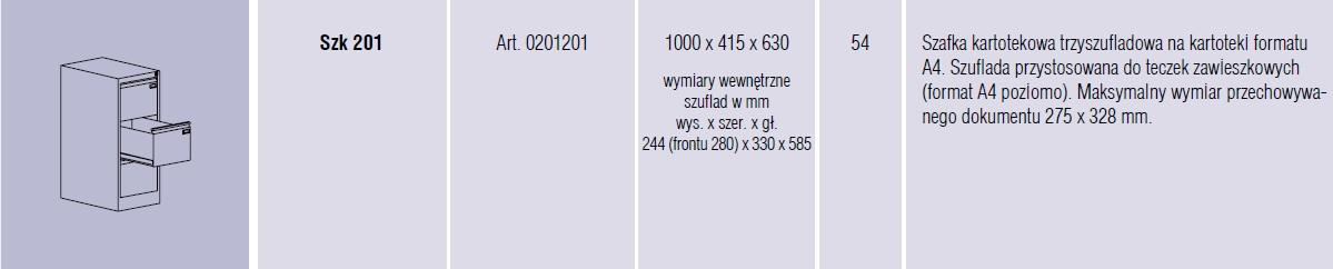Szafy metalowe kartotekowe SZK Malow - 2