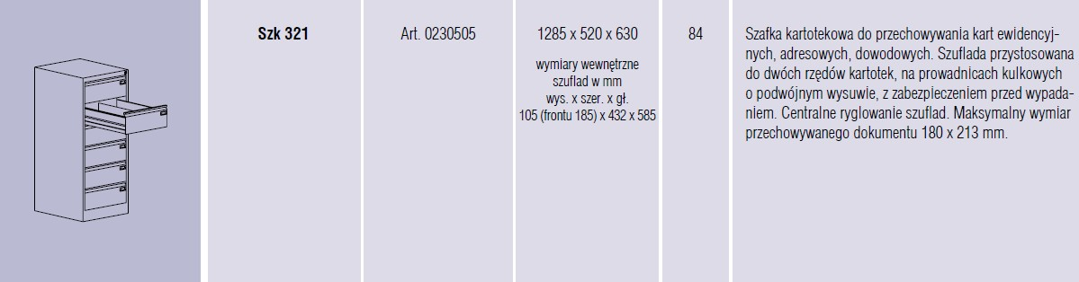 Szafy metalowe kartotekowe SZK Malow -   (23)