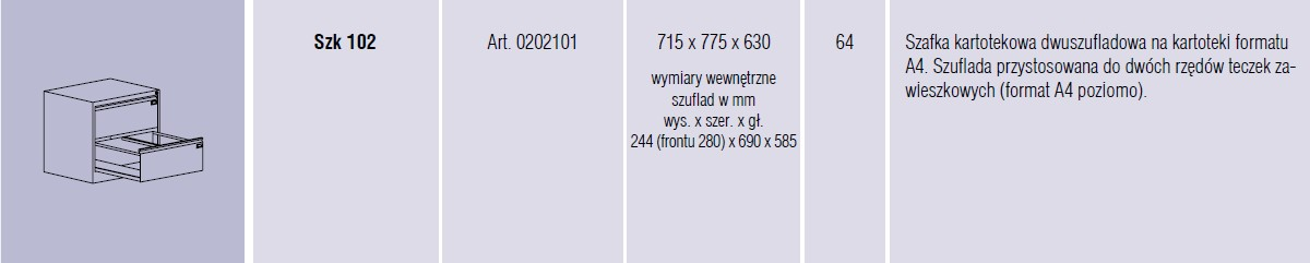 Szafy metalowe kartotekowe SZK Malow - 4