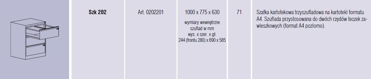 Szafy metalowe kartotekowe SZK Malow - 5