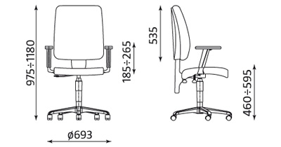 Wymiary krzesła Taktik