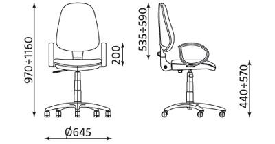 Wymiary krzesła Tema