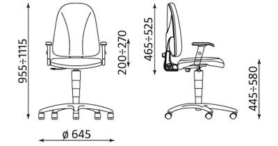 Wymiary krzesła Webst@r