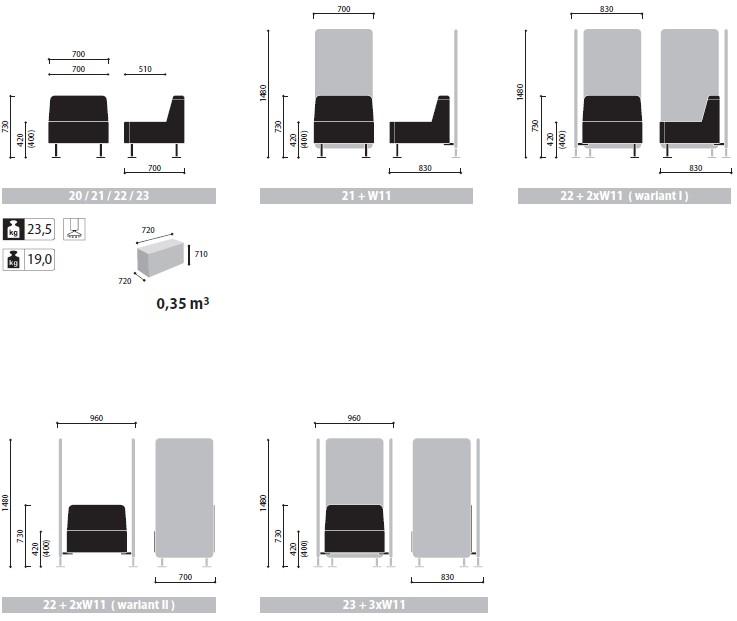 Wall In ścianki i siedziska recepcyjne wymiary (2)