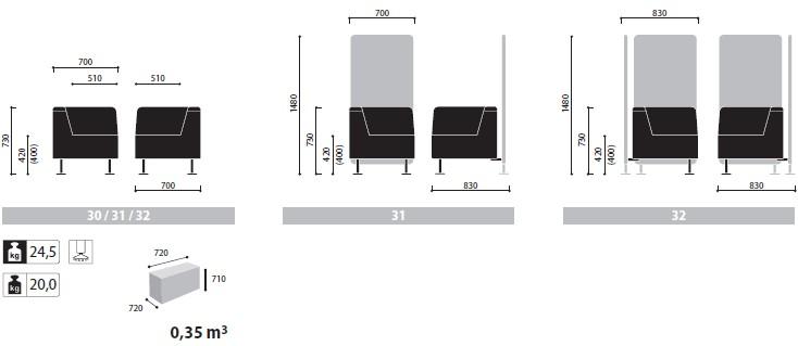 Wall In ścianki i siedziska recepcyjne wymiary (3)